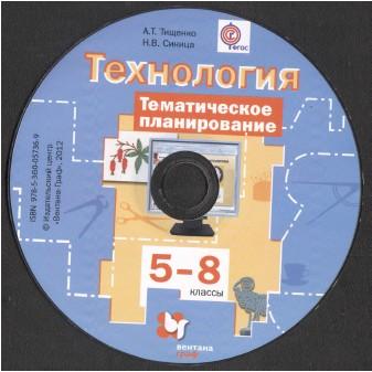 Технология. 5-8 классы. Программа. ФГОС Н. В. Синица, В. Д. Симоненко 2015 год (PDF)+CD