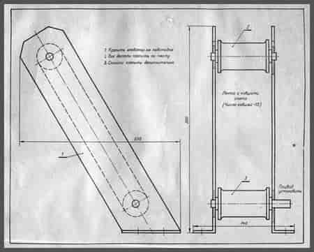 Модель ковшового элеватора схема