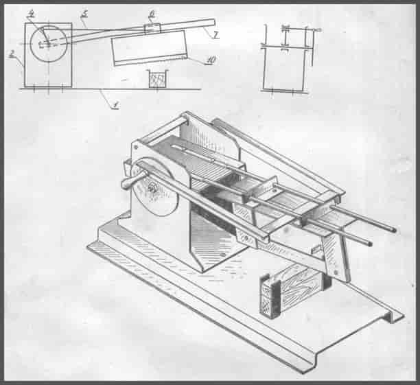 Модель механической ножовки