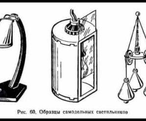 Одно — и двухламповые светильники. Требования и их конструкции. Урок