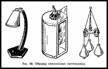 Образцы самодельных светильников