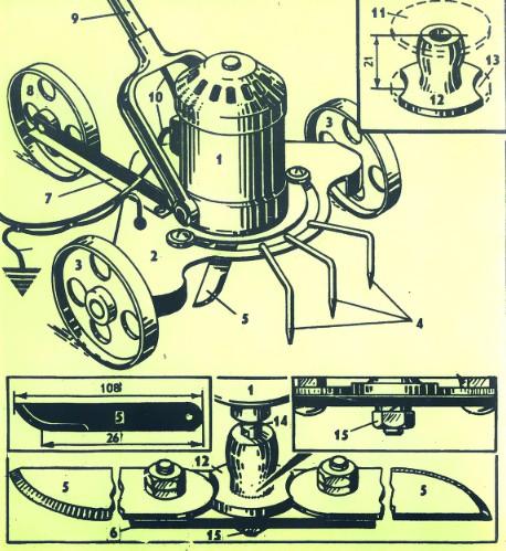 Устройство косилки