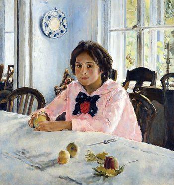 В. Серов. Девочка с персиками