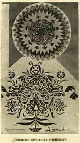 Ф.И. Шпала. Сочинение узоров. 1913 год