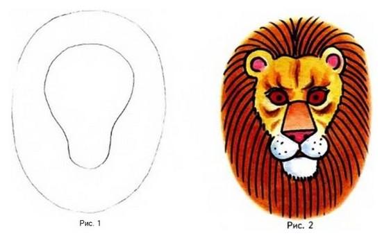 Нарисовать Короля Льва карандашом