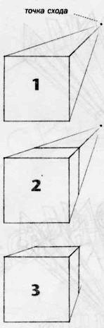 Нарисуем куб в перспективе