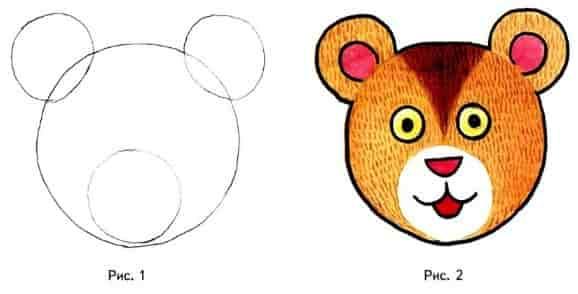 Рисуем медвежонка