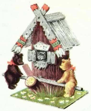 Сделать игрушку «Качели». Домик медвежат